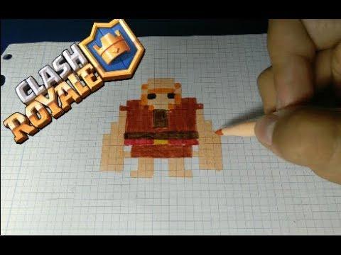 Como Dibujar Al Megacaballero Clash Royale Pixel Art