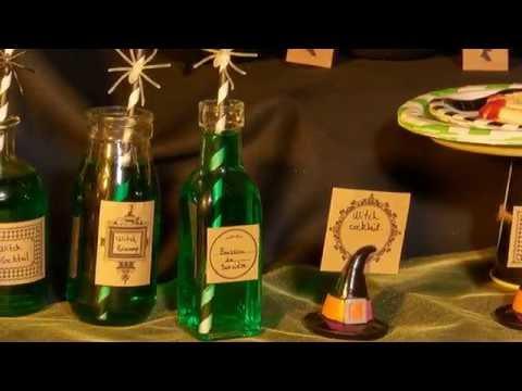 DIY heksen flessen Halloweendecoratie