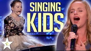 Little Kids With BIG Voices! BEST KID SINGER Auditions 2017 | Kids Talent Global