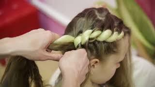 Обучение плетению! Урок №8! Коса жгут с использованием канекалона