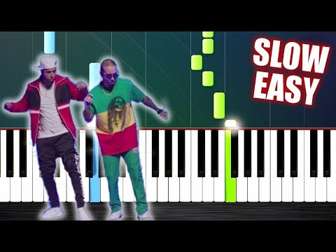 Nicky Jam x J. Balvin - X (EQUIS) - SLOW EASY Piano Tutorial by PlutaX