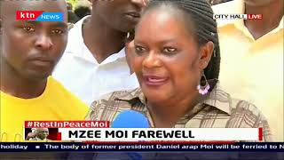Woman moves the crowd, recites the poem she performed before mzee Moi while young