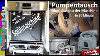 Spülmaschinen Pumpe in 30 Minuten tauschen ( Ohne Spülm. auszubauen! )