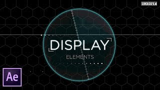 HUD Sci-Fi Title Elements | After Effects Tutorial
