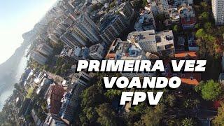 MEU PRIMEIRO DIA VOANDO FPV - DJI FPV