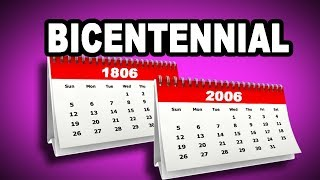 📅 Learn English Words: BICENTENNIAL - Meaning, Vocabulary with Pictures and Examples