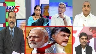సోమవారం లోక్సభలో ఏం జరగనుంది..? | SPecial Discussion On Aviswasa Teermanam On BJP Govt #2 | TV5