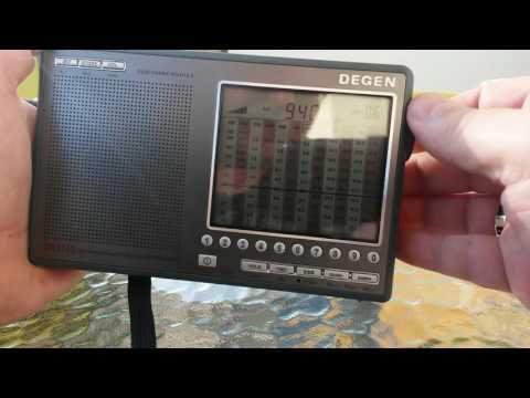 DEGEN DE1103 - krótki test na pasmach amatorskich 80, 40 i 20m, oraz odsłuch stacji radiofonicznych
