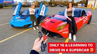 DAD SURPRISES DAUGHTERS WITH THE KEYS TO HIS SUPERCARS! *ONLY 16 & 17 Years Old*