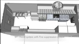 Food Truck 3D Floor Plan