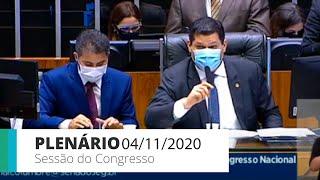 Congresso Nacional - Deputados analisam vetos e crédito suplementar - 04/11/2020 10:00