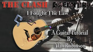 I Fought The Law - The Clash, Green Day - Acoustic Lesson (Ft. my son Jason on Lead etc.) - Easy