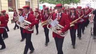 preview picture of video 'Kadettenmusik Horgen Backstage am Musikfest Winterthur 2013'