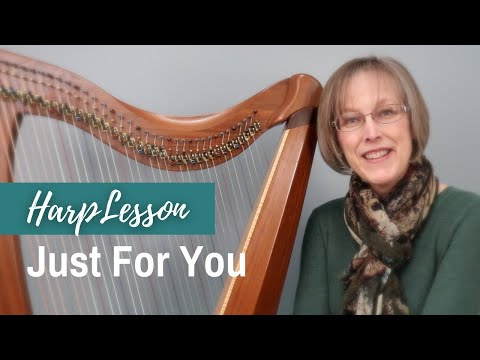 Beginner harp lesson JUST FOR YOU