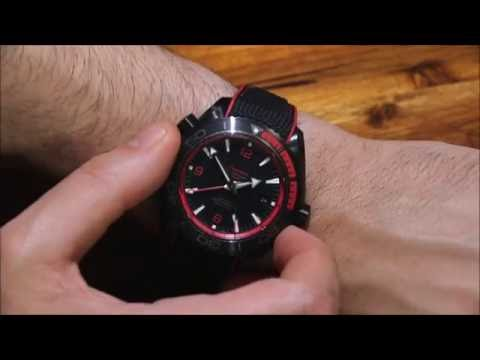 Omega Seamaster Planet Ocean Deep Black GMT Ceramic Watch Review | aBlogtoWatch