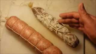 Смотреть онлайн Рецепт приготовления домашней колбасы салями