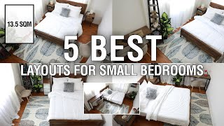 5 Best Layouts For Small Bedrooms (13.5 Sqm.) | MF Home TV