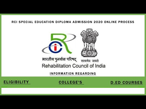 rci special education diploma admission online process - YouTube