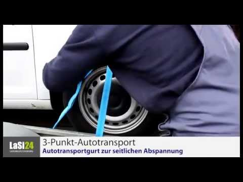 Ladungssicherung - 3-Punkt-Autotransportgurt
