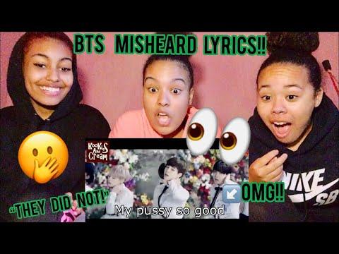 BTS Try Not To Laugh - Misheard Lyrics | REACTION