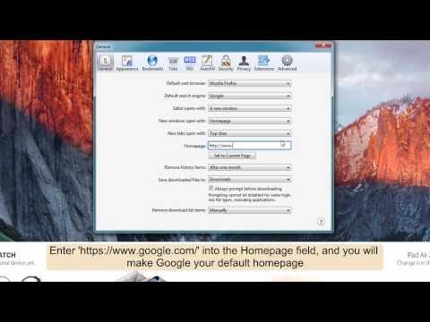 How to make Google your homepage on Safari