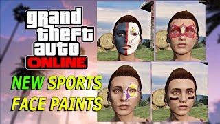 "GTA 5 Online: NEW Sports Face Paints - ""Inch by inch"" Adversary Mode (GTA V SECRET DLC)"