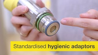 How can sensors be integrated into hygienic processes?