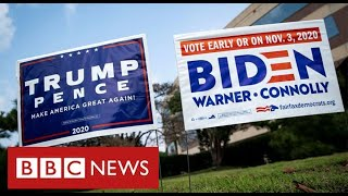 Trump and Biden in final scramble for votes before election day - BBC News
