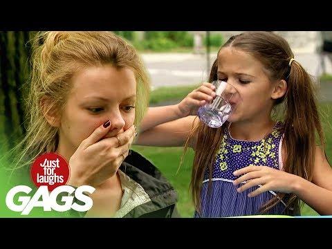 This Prank Involves 3 Little Girls Doing Tequila Shots!