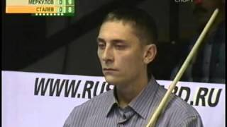 Русский бильярд  Евгений Сталев   Владимир Меркулов  Осенний турнир 2005 г