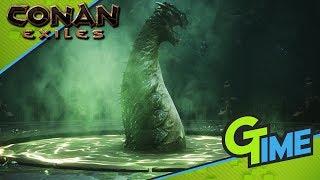 WIR KÄMPFEN GEGEN EINE GIGANTISCHE BOSS SCHLANGE!- Conan Exiles #32 Gameplay German | Gamerstime