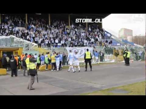 Piłkarze Stomilu Olsztyn dziękują za doping kibicom