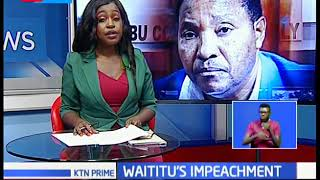 Kiambu county assembly conducts public hearing ahead of Waititu's impeachment tomorrow