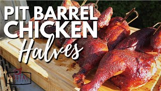 Pit Barrel Cooker Chicken Recipe - Smoked Chicken Halves On The Grill Easy