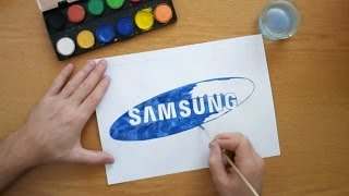How to draw the Samsung logo (Drawing famous logos)