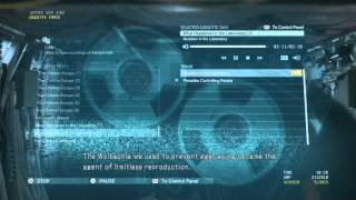 Metal Gear Solid V - Cassette Tape - What Happened in The Laboratory 2