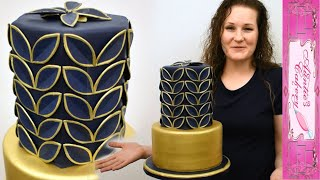 When Gold Meets Navy Blue On A Lovely Cake