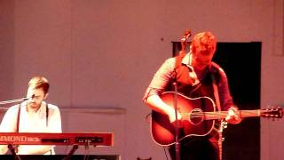 Josh Ritter singing Not Afraid of the Dark at Hartwood Acres  6/5/11