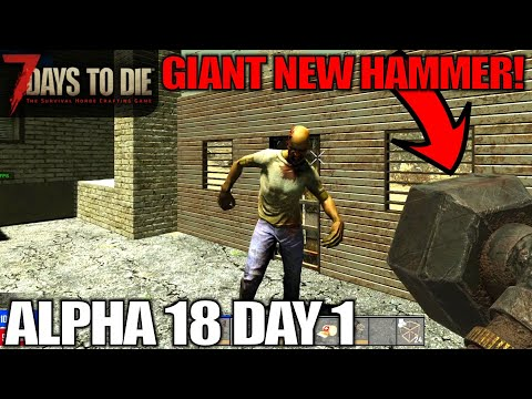 ALPHA 18 DAY 1, STUCK IN THE WASTELAND! | 7 Days to Die | Alpha 18 Gameplay | E01