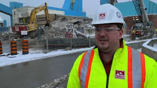 Priestly takes on a dangerous demolition at the Goderich Salt Mine