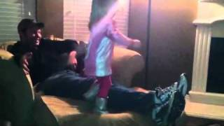 Presley dancing during Super Bowl half time - Video Youtube