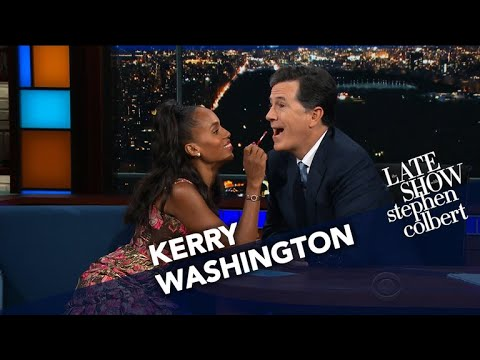 , title : 'Kerry Washington Does Stephen's Makeup'
