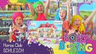 Lollyboxing 31 - Horse Club - Velký dům se stájí a karavan SCHLEICH