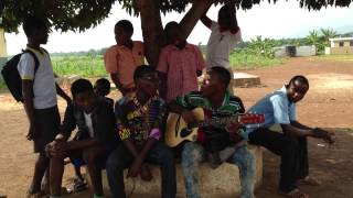 Teachers and students in Ghana sing pop song
