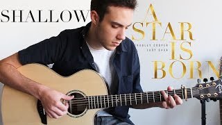 Shallow   Lady Gaga, Bradley Cooper (Fingerstyle Guitar Cover) A Star Is Born