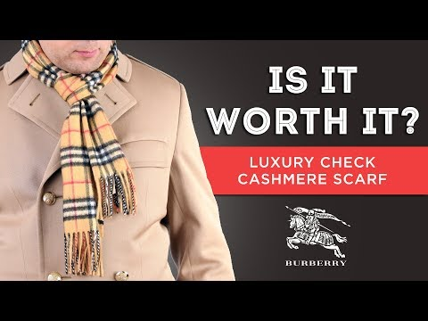 Burberry Scarf: Is It Worth It? - Luxury Check Cashmere Scarf Review