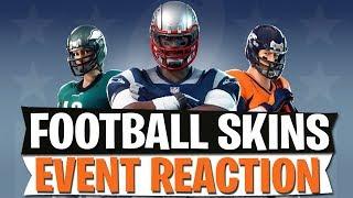 NFL FOOTBALL SKINS | BUTTERFLY EVENT REACTION | Fortnite Battle Royale