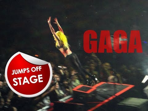 LADY GAGA STAGE DIVING COMPILATION