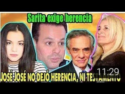 "Jose Joel ""sarita no hay herencia para ti no eres hija de Jose Jose """