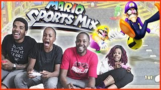MAV3RIQ FAM CLASHES IN EXTREME POWER UP DODGEBALL! - Mario Sports Mix Dodgeball Wii U Gameplay